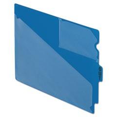 Colored Poly Out Guides with Center Tab, 1/3-Cut End Tab, Out, 8.5 x 11, Blue, 50/Box