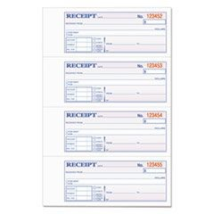 Money and Rent Receipt Books, 2-3/4 x 7 1/8, Two-Part Carbonless, 400 Sets/Book