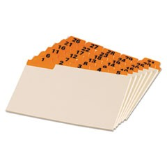 Manila Index Card Guides with Laminated Tabs, 1/5-Cut Top Tab, 1 to 31, 4 x 6, Manila, 31/Set