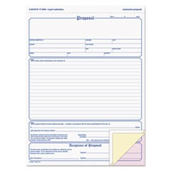 1Contractor Proposal Form, 3-Part Carbonless, 8 1/2 x 11 7/16, 50 Forms