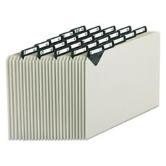 Steel Top Tab A-Z File Guides, 1/5-Cut Top Tab, A to Z, 8.5 x 11, Gray, 25/Set