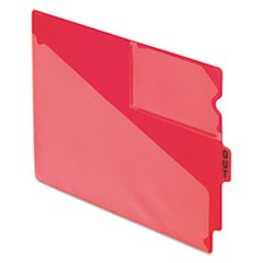 Colored Poly Out Guides with Center Tab, 1/3-Cut End Tab, Out, 8.5 x 11, Red, 50/Box