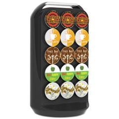 Coffee Pod Carousel, Fits 30 Pods, 6 7/8 x 6 7/8 x 12 5/8, Black