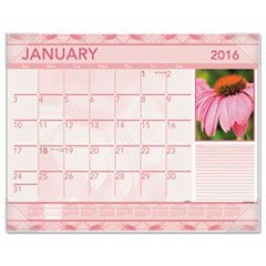 Antique Floral Monthly Desk Pad Calendar, 22 x 17, Antique Floral, 2016