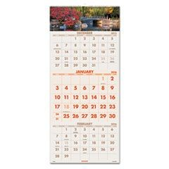 Scenic Three-Month Wall Calendar, 12 1/4 x 27, 2015-2017