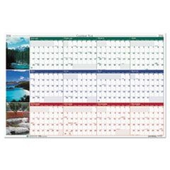 Earthscapes Nature Scene Reversible/Erasable Yearly Wall Calendar, 24 x 37, 2016