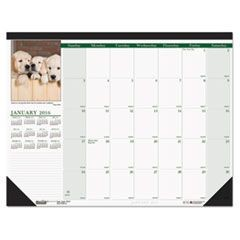 Puppies Photographic Monthly Desk Pad Calendar, 22 x 17, 2016