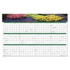 Gardens of the World Reversible/Erasable Wall Calendar, 24 x 37, 2016