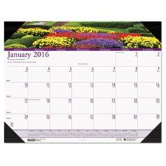 Gardens of the World Photographic Monthly Desk Pad Calendar, 22 x 17, 2016