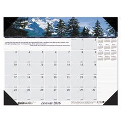 Mountains of the World Photographic Monthly Desk Pad Calendar, 22 x 17, 2016