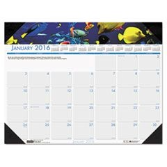 Sea Life Photographic Monthly Desk Pad Calendar, 22 x 17, 2016