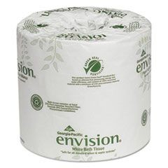 Envision Bathroom Tissue, 1-Ply, White, 1210 Sheets/Roll, 80 Rolls/Carton