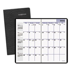 Pocket-Sized Monthly Planner, 3 5/8 x 6 1/16, Black, 2015-2017