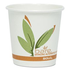 Bare by Solo Eco-Forward Recycled Content PCF Paper Hot Cups, 10 oz, 1,000/Ct