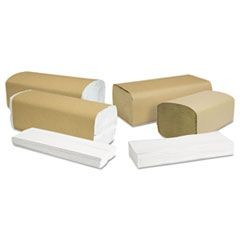 North River Folded Towels, Single-Fold, Natural, 9 1/8x10 1/4, 250/Pk, 4000/Ctn