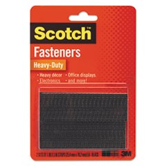 "Heavy-Duty All-Weather Fasteners, 1"" x 3"", Black, 2/Pack"