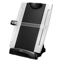Office Suites Desktop Copyholder, Plastic, 150 Sheet Capacity, Black/Silver