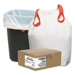 Heavy-Duty Trash Bags, 13gal, .9mil, 24.5 x 27 3/8, White, 200/Box