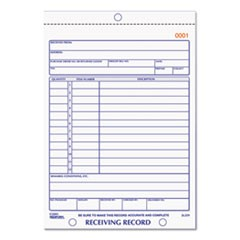 Receiving Record Book, 5 9/16 x 7 15/16, Two-Part Carbonless, 50 Sets/Book