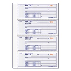 Money Receipt Book, 7 x 2 3/4, Carbonless Triplicate, 200 Sets/Book