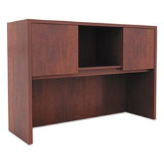 Alera Valencia Series Hutch with Doors, 47.13w x 15d x 35.38h, Medium Cherry