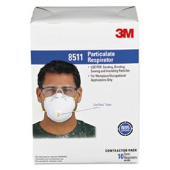 Particulate Respirator w/Cool Flow Exhalation Valve, 10 Masks/Box