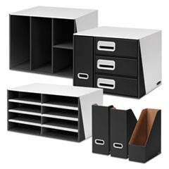 Premier Desktop Organization Kit, Six-Pieces, White/Black