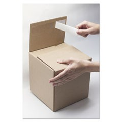 Self-Sealing Shipping Boxes, 4l x 4w x 4h, Brown Kraft, 8/Carton