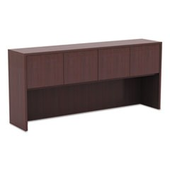 Valencia Series Hutch with Doors, 70 5/8w x 15d x 35 1/2h, Mahogany