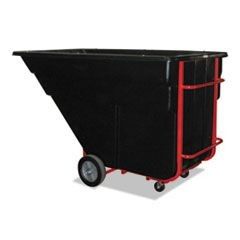 Rotomolded Tilt Truck, Rectangular, Plastic, 1200-lb Cap., Black