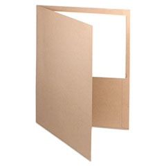 Earthwise 100% Recycled Paper Twin-Pocket Portfolio, Natural