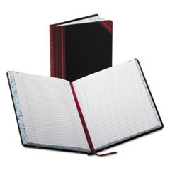 Record/Account Book, Record Rule, Black/Red, 300 Pages, 9 5/8 x 7 5/8