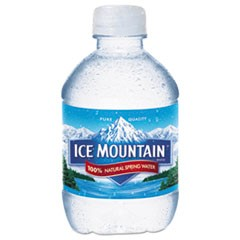 Natural Spring Water, 8 oz Bottle, 48/Carton