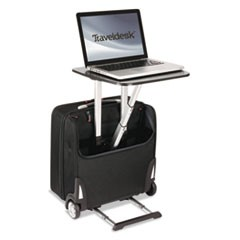 "Traveldesk Mobile Work Station, Polyester, 10 3/4"" x 18 1/2"" x 17 1/4"", Black"