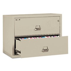 Two-Drawer Lateral File, 31 1/8w x 22 1/8d, UL Listed 350�, Ltr/Legal, Parchment