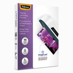 "1ImageLast Laminating Pouches with UV Protection, 3 mil, 9"" x 11.5"", Clear, 100/Pack"