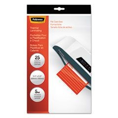 Laminating Pouches, 5mil, 3 1/2 x 5 1/2, Index Card Size, 25/Pack