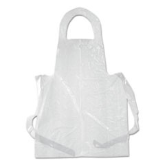 Poly Apron, White, 28 x 55, 100/Pack