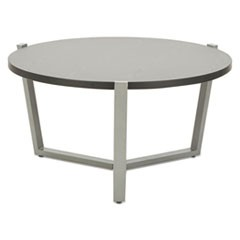 Round Occasional Coffee Table, 29 3/4 dia x 15 1/2h, Black/Silver