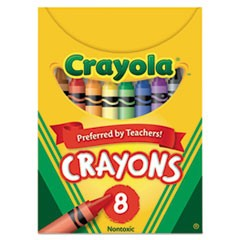 Classic Color Crayons, Tuck Box, 8 Colors