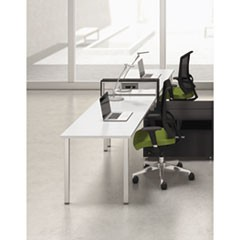 e5 Two-Person Workstation with Beltway, 123-1/2w x 73d x 29-1/2h, White/Raven