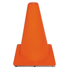 Non-Reflective Safety Cone, 9 x 9 x 12, Orange