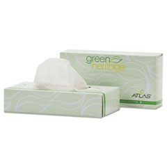 Green Heritage Professional Facial Tissue, 2-Ply, White, 100 Sheets/Box, 72 Boxes/Carton