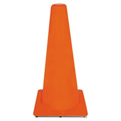 Non-Reflective Safety Cone, 13 x 13 x 28, Orange