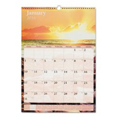 Scenic Monthly Wall Calendar, 12 x 17, 2016
