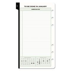 Reference Dated Two-Page-per-Day Organizer Refill, 3-3/4 x 6-3/4, 2016