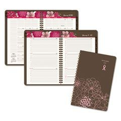 Sorbet Weekly/Monthly Appointment Book, 5 1/2 x 8 1/2, Brown/Pink, 2016