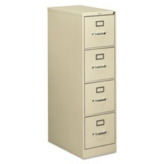 510 Series Four-Drawer Full-Suspension File, Letter, 15w x 25d x 52h, Putty