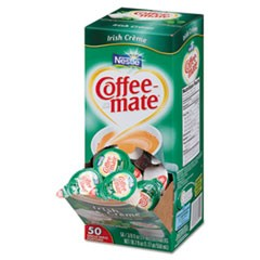 Liquid Coffee Creamer, Irish Creme, 0.375 oz Mini Cups, 50/Box, 4 Box/Carton
