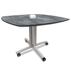 Reload Mobile Charging Table, 36 x 36 x 29, Pewter